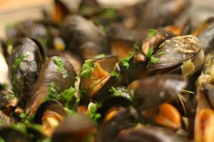 Blurb Cookbook Mussels