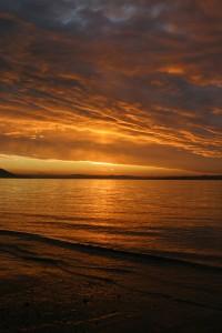 Sunset in Buncrana Donegal November